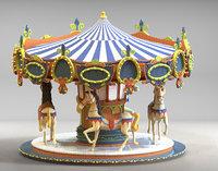 carousel horse 3d max