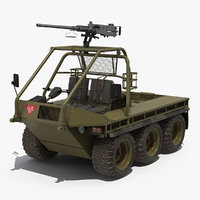 3D model army atmp 6x6 machine gun