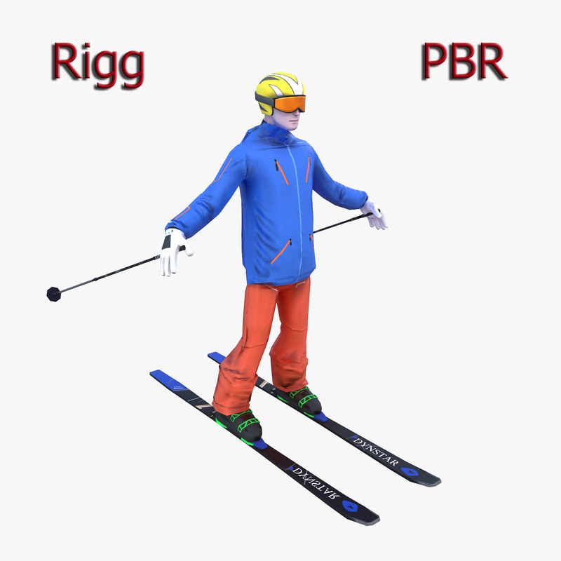 3D skier