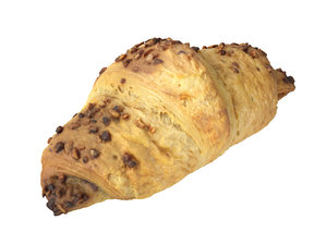 chocolate croissant delicious 3D model