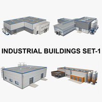 Textured Industrial Building Set_01