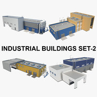 Textured Industrial Building Set_02
