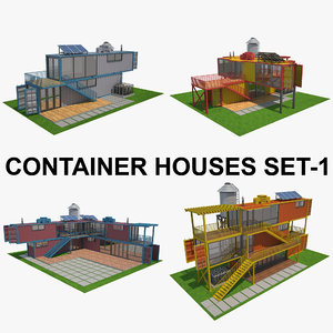 house container 3D model