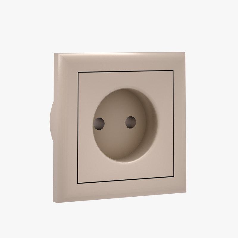 wall socket 3d max