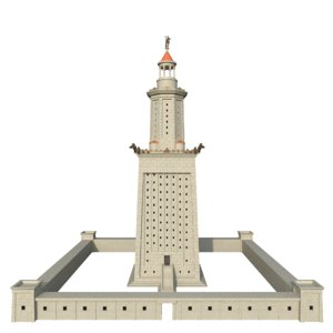 lighthouse alexandria 3D model