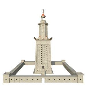lighthouse alexandria 3D model