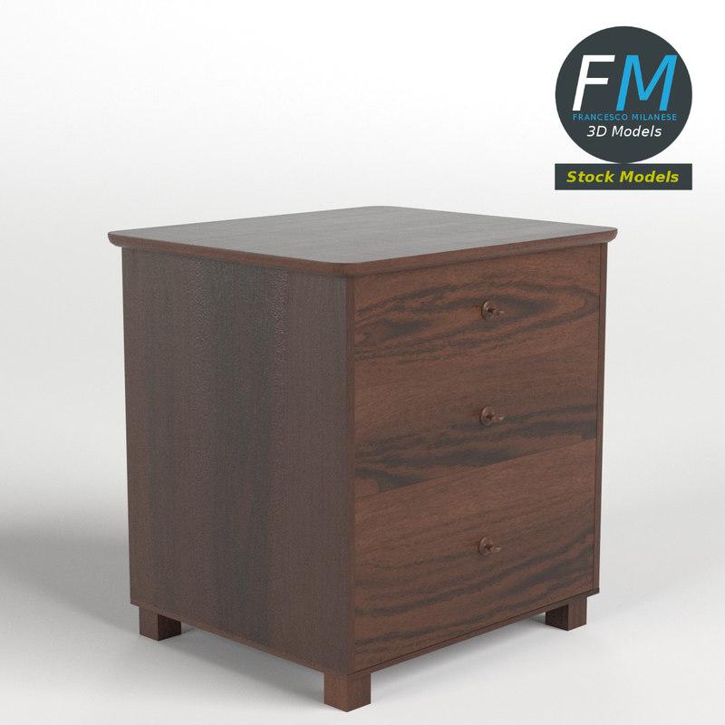 3d model bedside table 5