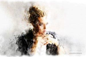 Girl in a coffee bar