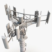 3d model cell phone tower
