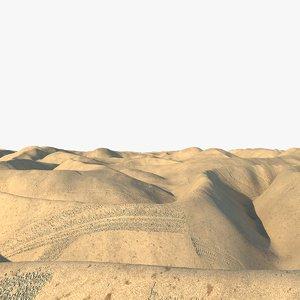 3d model realistic desert