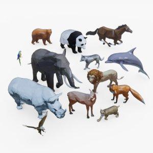 animal pack 3D model
