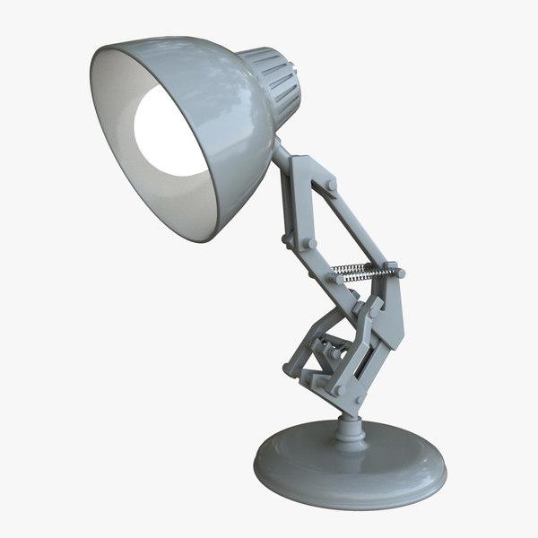 luxo jr lamp lighting set 3d ma