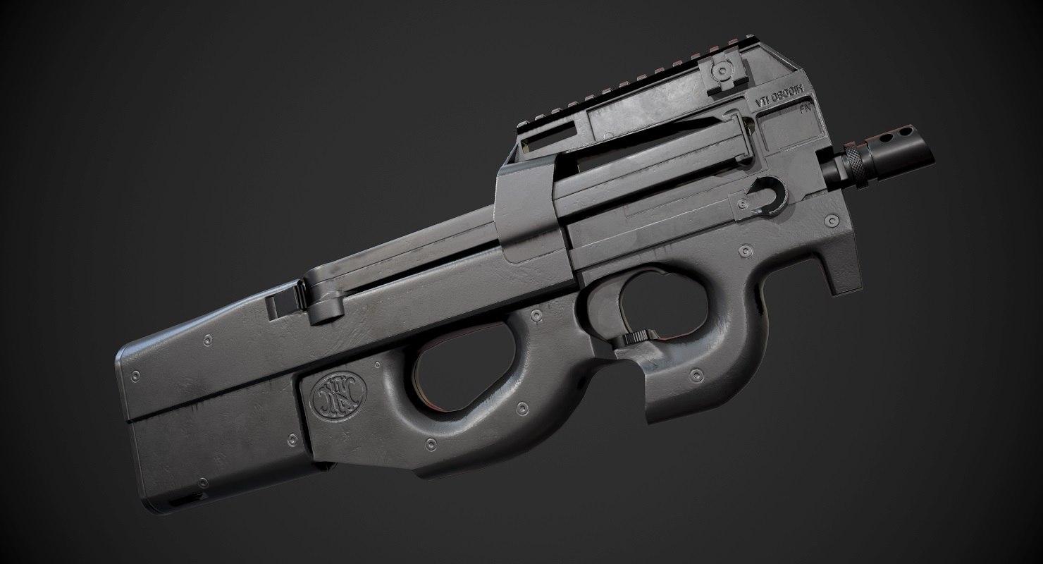 p90 ready asset 3D model