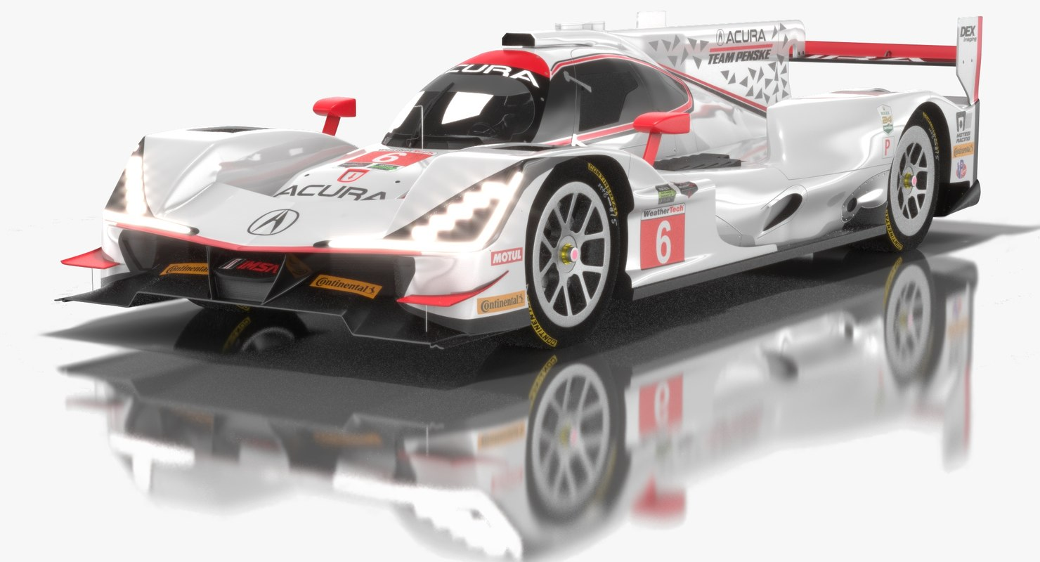 3D model pack imsa weathertech sportscar