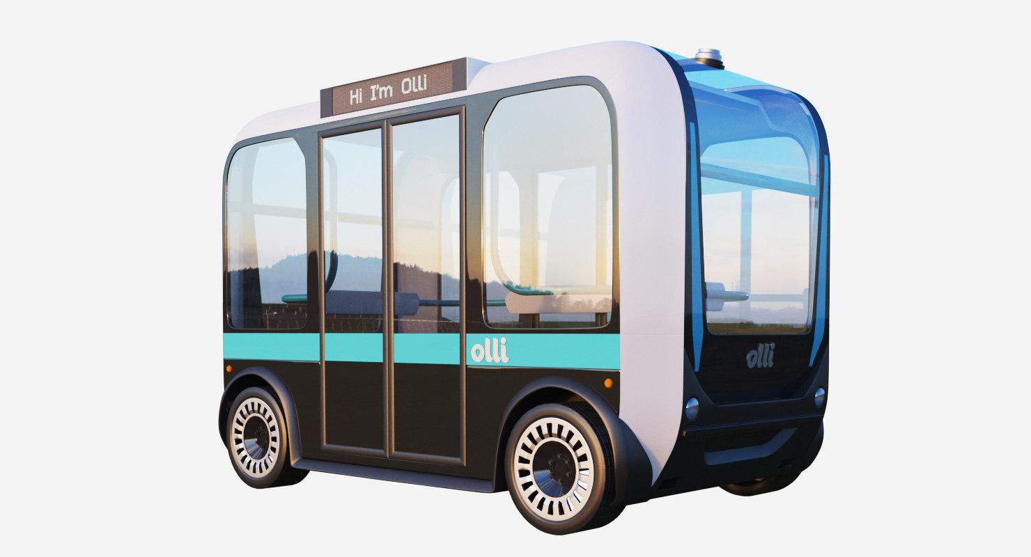 olli bus driverless 3D model