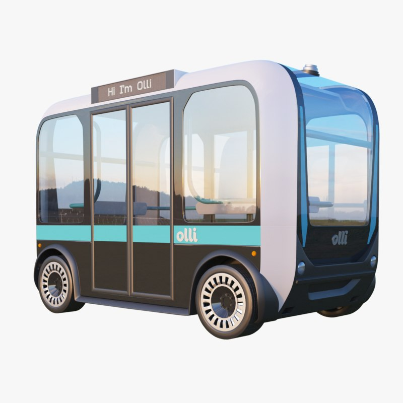 olli bus driverless 3D model