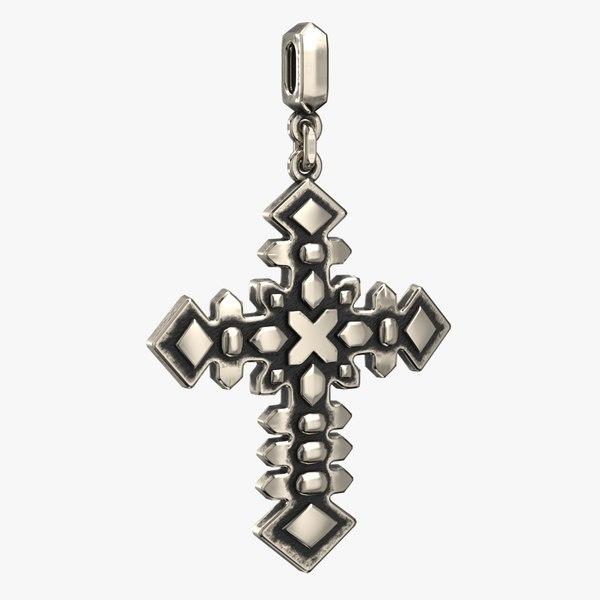 3D cross pendant stl
