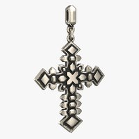 3D cross pendant stl
