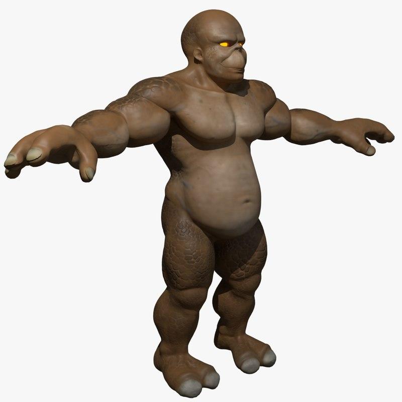 creature fantasy 3d model