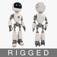robot clean rigged 3D model