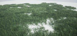 3D ue4 grass