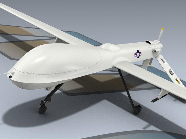 rq-1a predator uav 3d model