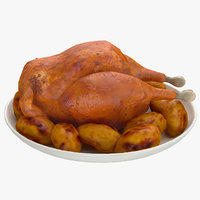 thanksgiving turkey 3d model