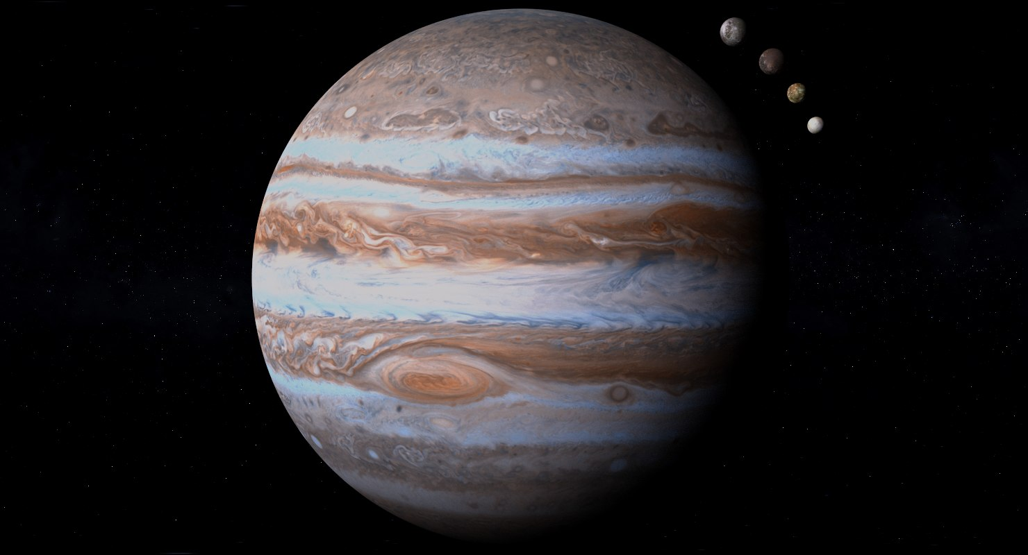 3D realistic jupiter photorealistic 4