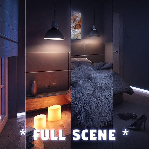 interior bedroom modern design max