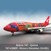3d - qantas wunala dreaming model