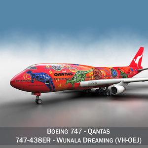 3d - qantas wunala dreaming model