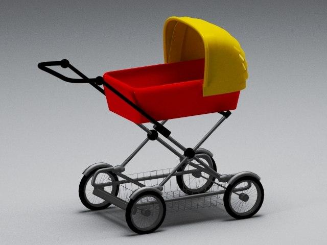 3D pram model