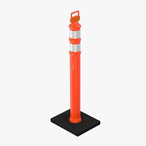 delineator tube 3D model