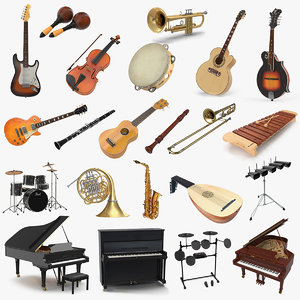 3D musical instruments 3