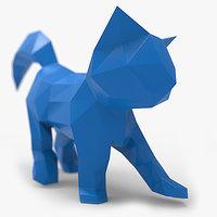 kitten papercraft 3D model