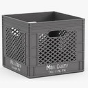 plastic milk crate 3d max
