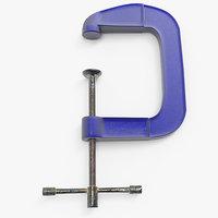 c clamp 3d model