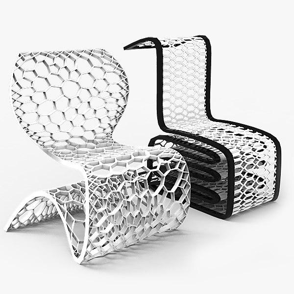 free modern chairs 3d model