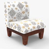 slipper chairs 3d model