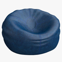 3d leather beanbag bag