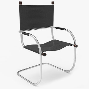 free cantilever tube chair 3d model