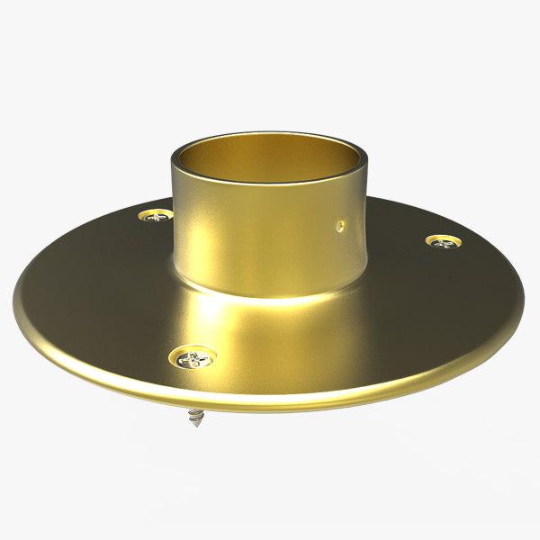 brass floor flange wood max free