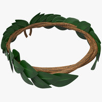 3d model laurel wreath
