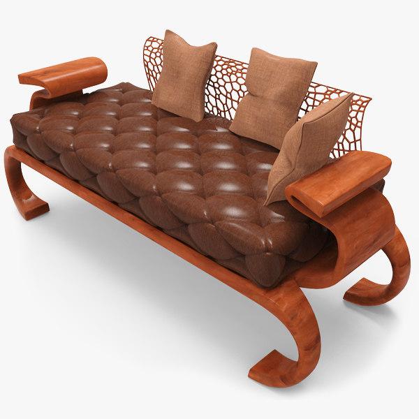 contemporary sofa 3d obj