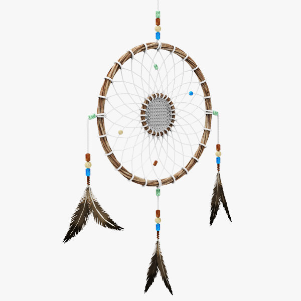 native dream catcher 3d model