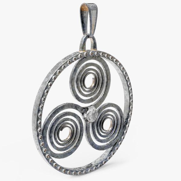 triskele celtic amulet 3d max