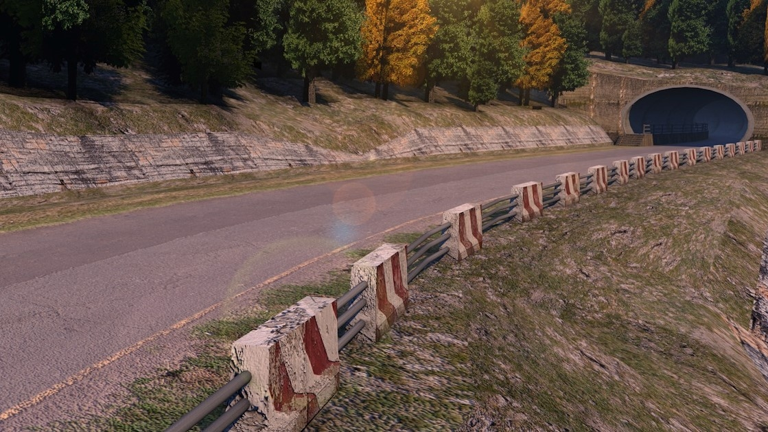 3D road forest