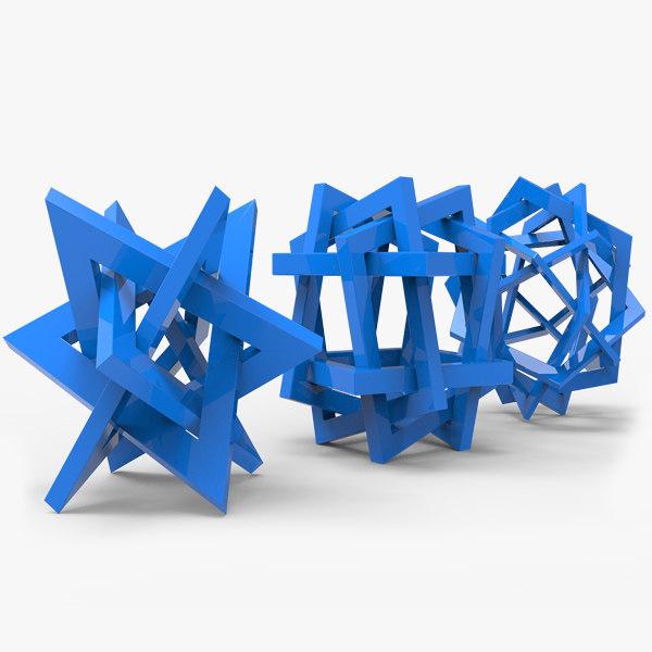 orderly tangles 3d model