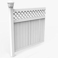 Vinyl Fence Panel (modular)