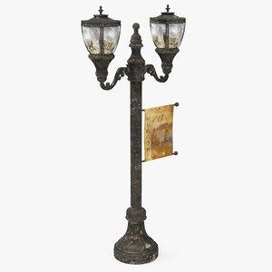 3d antique street lamp